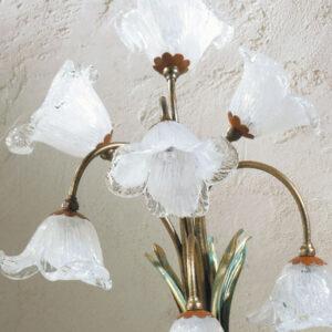 Lampada Da Tavolo In Ottone E Vetri Soffiati Di Murano 27830 L Originale